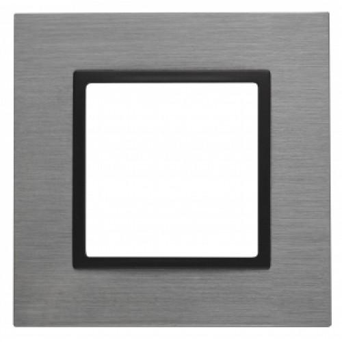 14-5201-42 ЭРА Рамка на 1 пост, металл, Эра Elegance, титан+антр Б0034546