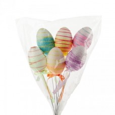 Набор яиц на вставке (пластик), 4x4x6см, 6шт., цв. в асс. 1083955