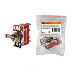Выключатель-тумблер 1021 (ТВ1-2) вкл.- откл. 1 группа контактов TDM SQ0703-0026