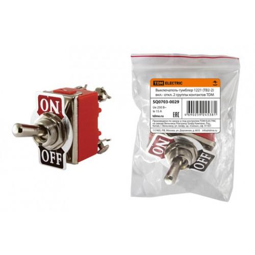 Выключатель-тумблер 1221 (ТВ2-2) вкл.- откл. 2 группы контактов TDM SQ0703-0029