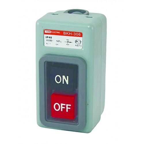 Выключатель кнопочный с блокировкой ВКН-306 3Р 6А 230/400В IP40 TDM SQ0716-0004