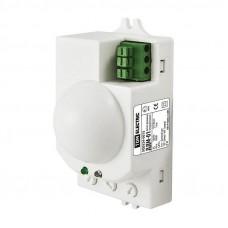 Датчик движения микроволновый ДДМ-01 5,8ГГц 1200Вт, 10-720с, 1-8м, 3+Лк, 120(сбоку)+360(сверху)гр IP20, TDM SQ0324-0015