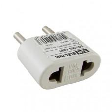 Переходник (тип CEE 7/17 - тип А/F) плоский 10А макс. 250В белый TDM SQ1806-0087