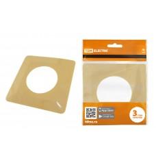 Одноместная защитная рамка для выключателей или розеток для защиты обоев 130х130 мм, сл. кость TDM SQ1822-0003