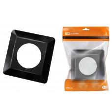 Одноместная защитная рамка для выключателей или розеток для защиты обоев 130х130 мм, антрацит TDM SQ1822-0005