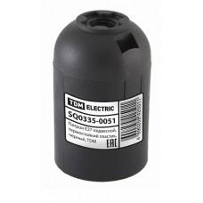 Патрон Е27 подвесной, термостойкий пластик, черный, TDM SQ0335-0051