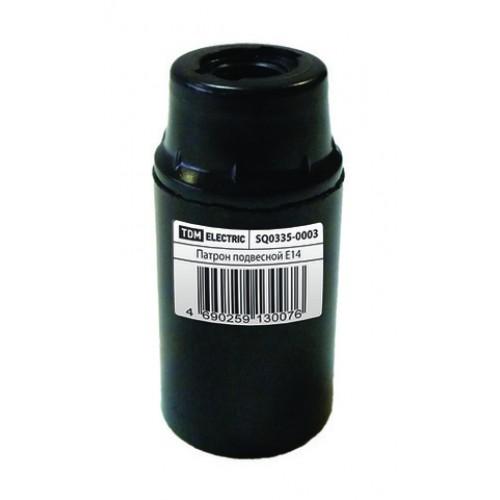 Патрон карболитовый подвесной, Е14, черный, TDM SQ0335-0003