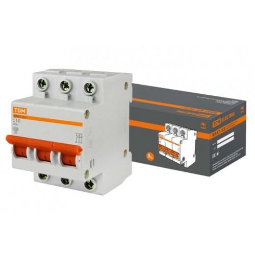 Авт. выкл.ВА47-63 3Р 10А 4,5кА х-ка С TDM SQ0218-0018