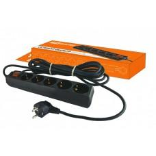 Сетевой фильтр СФ-05В выключатель, 5 гнезд, 5 метров, с заземлением, ПВС 3х1мм2 16А/250В TDM SQ1304-0003
