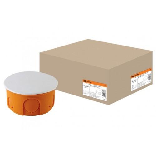 Распаячная коробка СП D80х40мм, крышка, IP20, TDM SQ1402-1007
