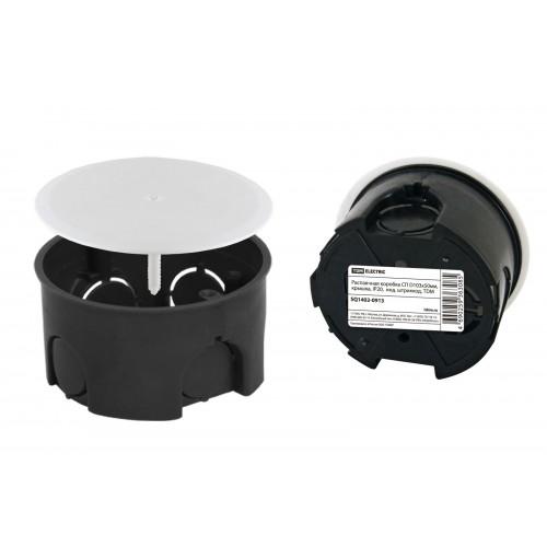 Распаячная коробка СП D103х50мм, крышка, IP20,  инд. штрихкод, TDM SQ1402-0913