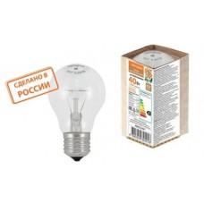Лампа накаливания А50 230-40 Е27 Народная SQ0332-0501