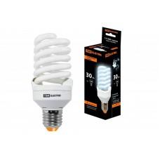 Лампа энергосберегающая КЛЛ-FST2-30 Вт-4000 К–Е27 КОМПАКТ (55х126 мм) TDM SQ0323-0194