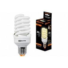 Лампа энергосберегающая КЛЛ-FST2-30 Вт-2700 К–Е27 КОМПАКТ (55х126 мм) TDM SQ0323-0197
