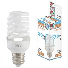 Лампа люминесцентная НЛ-FSТ2-20 Вт-6500 К–Е27 (48х115 мм) SQ0347-0012