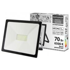 Прожектор светодиодный СДО-04-070Н 70 Вт, 6500 К, IP65, черный, Народный SQ0336-0264