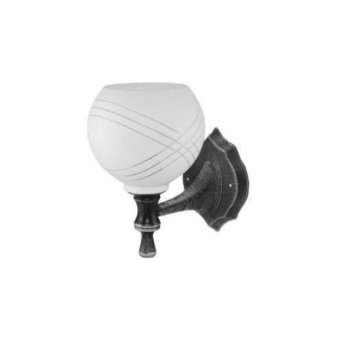 Светильник НББ 21-60-1322 УХЛ4 (черный под серебро, плафон полушар