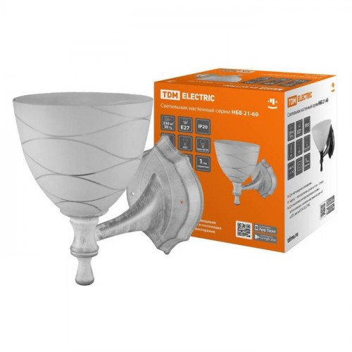 Светильник НББ 21-60-1411 УХЛ4 (белый под серебро, плафон конус