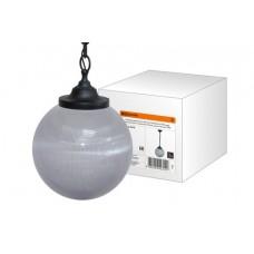 Светильник НСБ 02-60-252 УХЛ4 60 Вт, IP40, шар прозрачный с огранкой 250 мм, цепь черная TDM SQ0313-0010