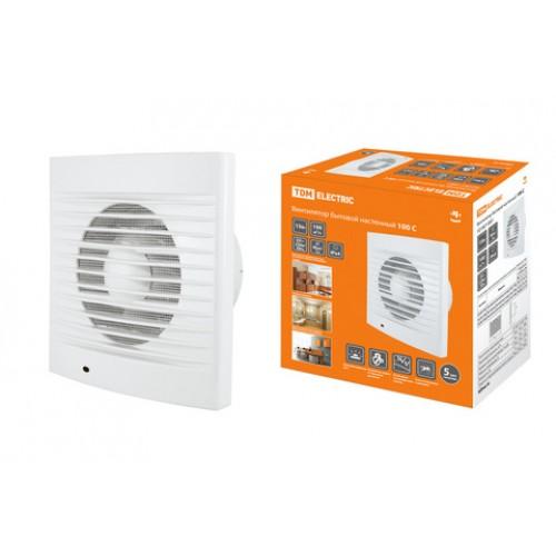 Вентилятор бытовой настенный 100 С TDM SQ1807-0001
