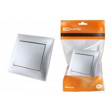 Выключатель 1 кл. 10А серебр. металлик