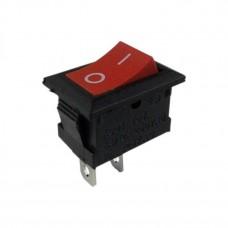 Выключатель клавишный 250V 3А (2с) ON-OFF красный  Micro  REXANT 36-2011