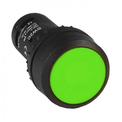 Кнопка SW2C-11 с фиксацией зеленая NO+NC EKF PROxima sw2c-11f-g