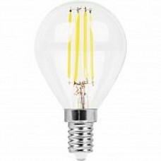 Лампа светодиодная LB-511 (11W) 230V E14 2700K филамент G45 прозрачная 38013