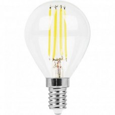 Лампа светодиодная LB-511 (11W) 230V E14 4000K филамент G45 прозрачная 38014