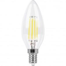 Лампа светодиодная LB-714 (11W) 230V E14 2700K филамент С35T прозрачный 38010