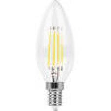 Лампа светодиодная LB-73 (9W) 230V E14 4000K филамент С35 прозрачная 25958