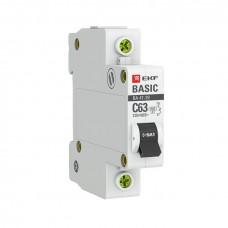 Автоматический выключатель 1P 10А (B) 4,5кА ВА 47-29 EKF Basic mcb4729-1-10-B