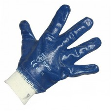 Перчатки х/б с нитриловым покрытием, подкладка 100 % хлопок 09-0236