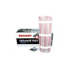 Тёплый пол (нагревательный мат) REXANT Classic RNX-11,0-1650 (площадь 11,0 м2 (0,5 х 22,0 м)), 1650 Вт, двухжильный с экраном 51-0520-2
