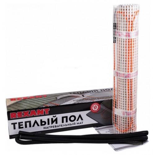 Теплый пол (нагревательный мат) REXANT Extra, площадь 3,0 м2 (0,5 х 6,0 метров), 480Вт, (двух жильный) 51-0506