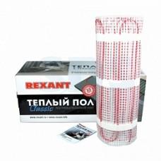 Теплый пол (нагревательный мат) REXANT Extra, площадь12,0 м2 (0,5 х 24,0 метров), 1920Вт, (двух жильный) 51-0524