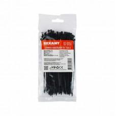 Хомут-стяжка кабельная нейлоновая REXANT 150 x2,5 мм, черная, упаковка 100 шт. 07-0151