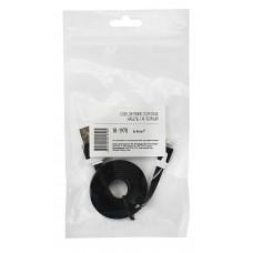 USB кабель для iPhone 5/6/7 моделей slim шнур плоский 1 м черный 18-1970