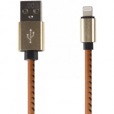 USB кабель microUSB, шнур в кожаной оплетке коричневый 18-4231-9