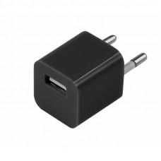 Сетевое зарядное устройство «Квадрат» USB (СЗУ) (1000 mA) черное 18-1910