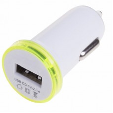 Автозарядка в прикуриватель USB (АЗУ) (5 V, 2100 mA) белая REXANT 18-1937