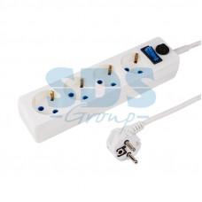 Сетевой фильтр 4 гнезда 3 м 3х0,75 мм? с/з STANDART белый PROCONNECT 11-9524