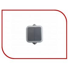 Выключатель двухклавишный  влагозащищенный открытой установки IP54 10 А REXANT 78-0521
