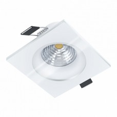 98239 Cветодиод. встраиваемый светильник SALABATE димм., 6W(LED), 88х88, 380lm, 3000K, IP44, алюмини 98239