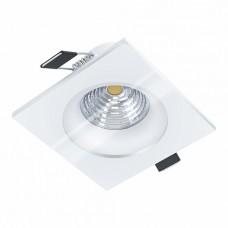 98242 Cветодиод. встраиваемый светильник SALABATE димм. c рег-кой, 6W(LED), 88х88, H42, 450lm, 4000 98242