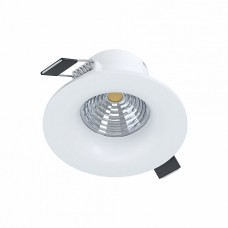 98243 Cветодиод. встраиваемый светильник SALICETO димм., 6W(LED), O88, 380lm, 3000K, алюминий, белый 98243