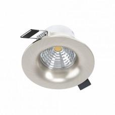 98246 Cветодиод. встраиваемый светильник SALICETO димм., 6W(LED), O88, 450lm, 4000K, алюминий, никел 98246