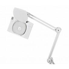 Лупа на струбцине REXANT, квадратная, 5D, с подсветкой 108 LED, белая 31-0513