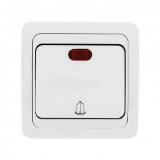 Кнопка звонка с инд. 10А бел. Лондон EKF PROxima EEZ10-126-10