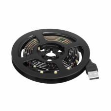 LED лента с USB коннектором 5 В, 8 мм, IP65, SMD 2835, 60 LED/m, цвет свечения зеленый 141-384